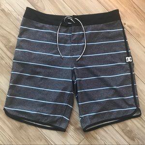 DC Striped Swim Shorts